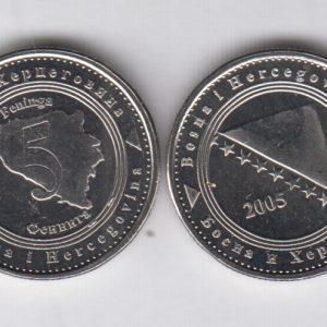 BOSNIA 5 Feniga 2005 KM121