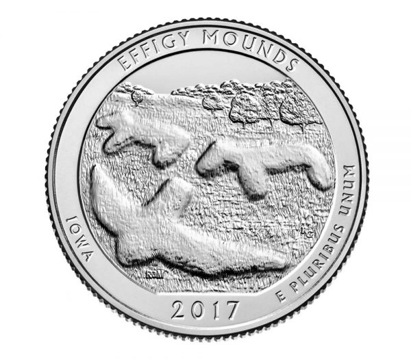 USA $¼ 2017D Effigie Mounds Park