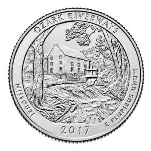 USA $¼ 2017D Ozark Natinal Scenic Riverways