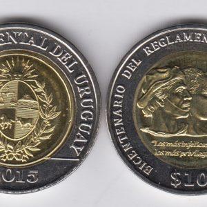 URUGUAY 10 Pesos 2015