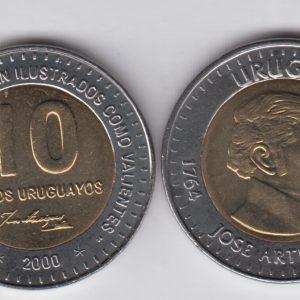 URUGUAY 10 Pesos 2000 KM121