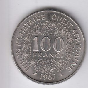 WEST AFRICAN STATES 100 Francs 1967 KM4