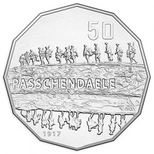 AUSTRALIA 50 Cents 2017 Passchendaele Battle