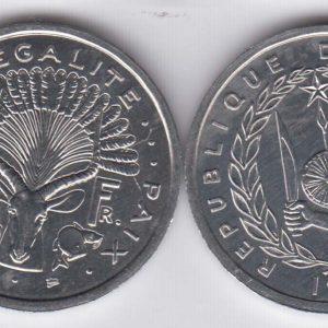 DJIBOUTI 2 Francs 1999 KM21