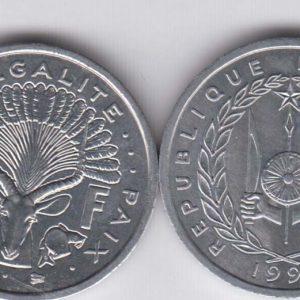DJIBOUTI 1 Franc 1991 KM20