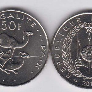 DJIBOUTI 50 Francs 2016 KM25