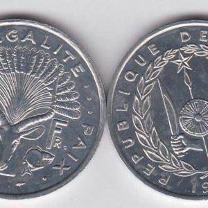 DJIBOUTI 5 Francs 1991 KM22