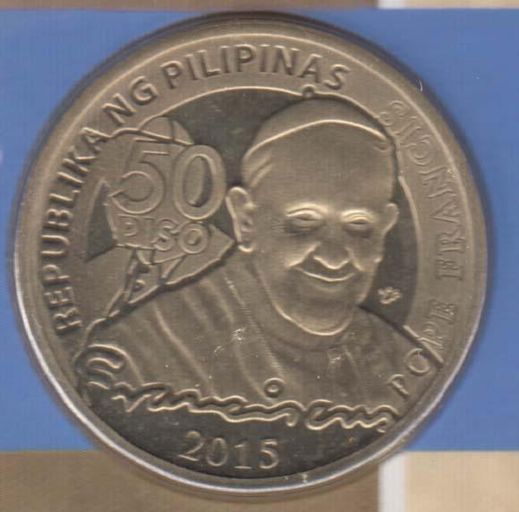 PHILIPPINES 50 Piso 2015 Pope Visit