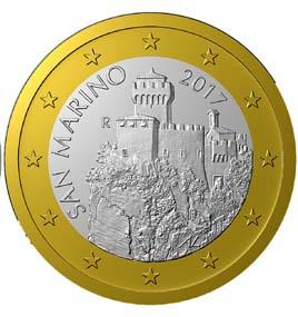 SAN MARINO 1 Euro 2017 new type