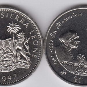SIERRA LEONE $1 1997 Mother Teresa & Diana