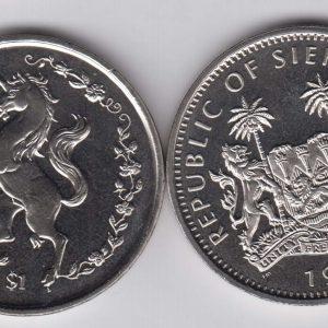 SIERRA LEONE $1 1997 Unicorn KM48