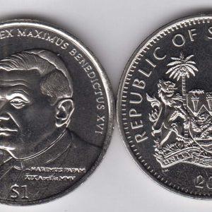 SIERRA LEONE $1 2005 Pope Benedikt XVI KM323