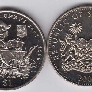 SIERRA LEONE $1 2006 Columbus