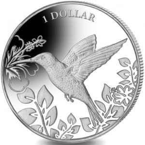 BRITISH VIRGIN ISLANDS $1 2017 Hummingbird