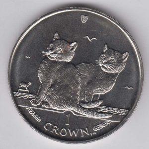 ISLE OF MAN 1 Crown 2003 Balinese Cat KM1165