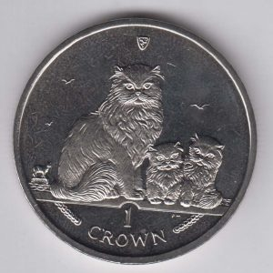 ISLE OF MAN 1 Crown 2005 Himalayan Cat KM1266