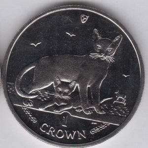 ISLE OF MAN 1 Crown 2010 Abyssinian Cat KM1426