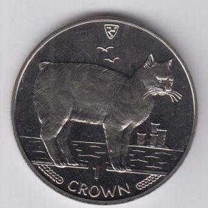 ISLE OF MAN 1 Crown 1988 Manx Cat KM245