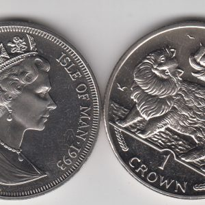 ISLE OF MAN 1 Crown 1993 Maine Coon Cat KM353