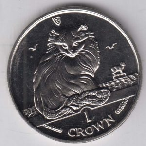 ISLE OF MAN 1 Crown 1995 Turkish Cat KM446