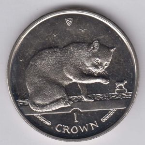ISLE OF MAN 1 Crown 1999 Bblue Ca KM966