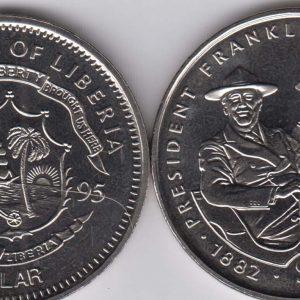 LIBERIA $1 1995 Roosevelt