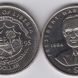 LIBERIA $1 1995 Truman