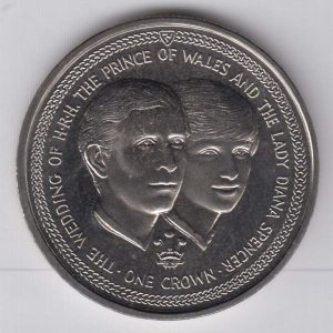 ISLE OF MAN 1 Crown 1981 Diana & Charles Wedding KM82
