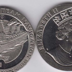 ISLE OF MAN 1 Crown 1988 Steam Navigation KM232