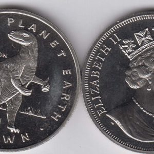 ISLE OF MAN 1 Crown 1993 Iguanodon KM357
