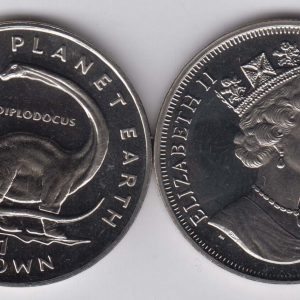 ISLE OF MAN 1 Crown 1993 Dipolodocus KM358