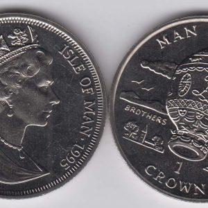 ISLE OF MAN 1 Crown 1995 Mongolfiere KM436
