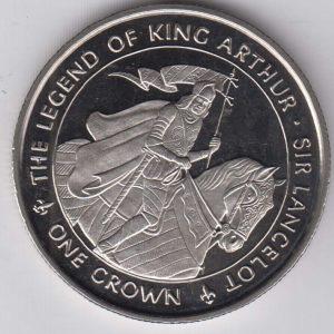 ISLE OF MAN 1 Crown 1996 King Arthur / Lancelot KM681