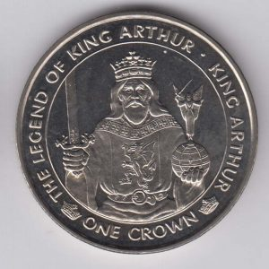 ISLE OF MAN 1 Crown 1996 King Arthur km679