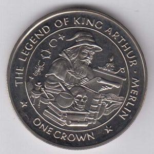 ISLE OF MAN 1 Crown 1996 King Arthur / Merlin KM682