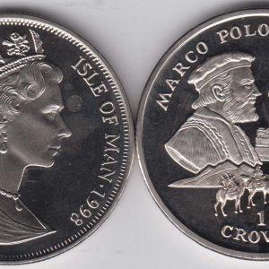 ISLE OF MAN 1 Crown 1998 Marco Polo KM825