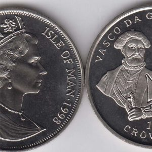 ISLE OF MAN 1 Crown 1998 Vasco de Gama KM827