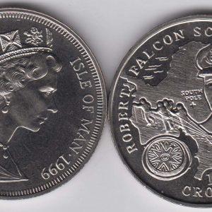 ISLE OF MAN 1 Crown 1999 Robert Scott KM957