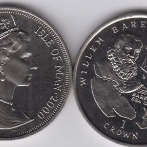 ISLE OF MAN 1 Crown 2000 Barents KM1023