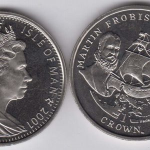 ISLE OF MAN 1 Crown 2001 Frobisher KM1080