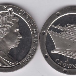 ISLE OF MAN 1 Crown 2004 Queen Mary 2 KM1218