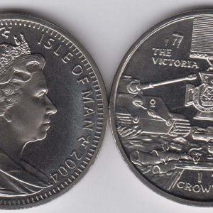 ISLE OF MAN 1 Crown 2004 Victoria Cross Medal KM1224