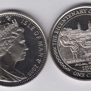ISLE OF MAN 1 Crown 2005 Nelson, Saint Vicent KM1279