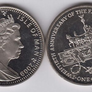 ISLE OF MAN 1 Crown 2009 Berlin Wall KM1373