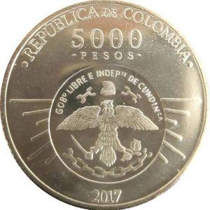 COLOMBIA 5000 Pesos 2017 Cundinamarca Rep