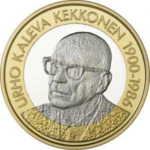 FINLAND 5€€ 2017 President Urho Kaleva Kekkonen