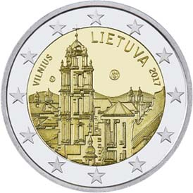 LITHUANIA 2€€ 2017 Vilnius
