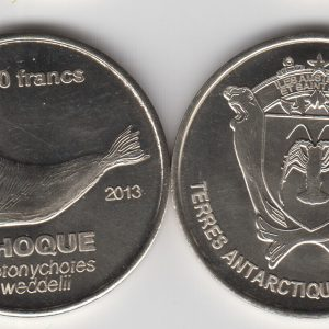 AMSTERDAM & SAINT PAUL 50 Francs 2011, unusual coinage