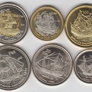 BASSAS DA INDIA Set 9pcs 2011-12, unusual coinage