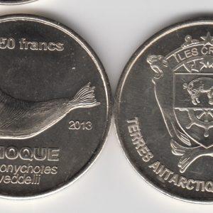 CROZET500 Francs 2013, Squid, unusual coinage